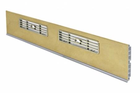Решетка вентиляционная МАЛАЯ 33х169 мм серая