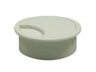 Заглушка для проводки D-60 мм, №1 белая