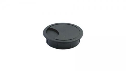 Заглушка для проводки D-60 мм, №2 черная