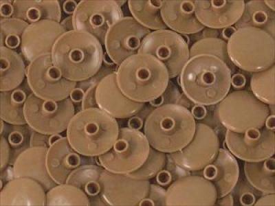 Заглушка пластиковая для конфирмата №5 яркая ольха