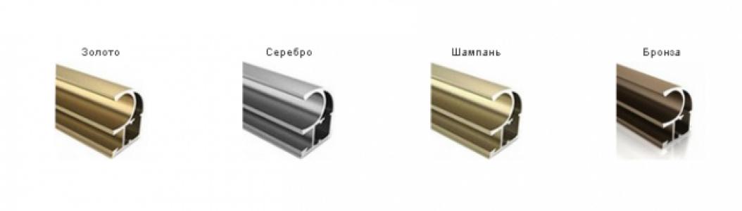 ШК-2 Ручка профиль симметричная серебро 2,7 м