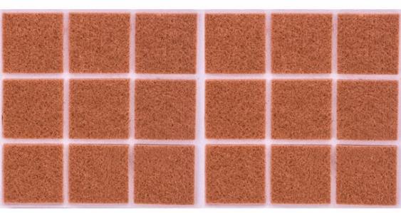 Войлок коричневый 35х55 мм