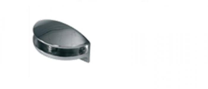 Держатель для стекла (арт.8906), хром