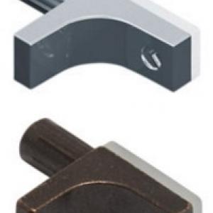 K-LINE Полкодержатель с дополнительным упором для стеклянных полок без фиксации
