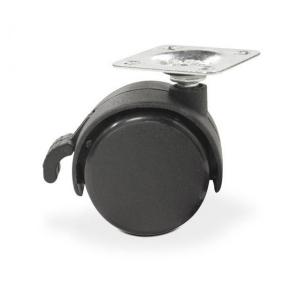 Колесо: K-135 на площадке D-50 со стопором, черное