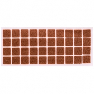 Войлок коричневый 20х20 мм