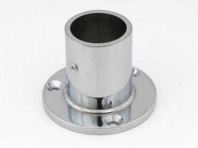 Фланец для трубы (ОП-320) D-32 мм ВЫСОКИЙ хром